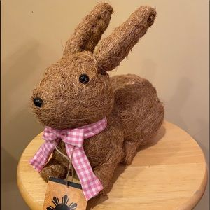 Straw bunny hand crafted in Philippines.